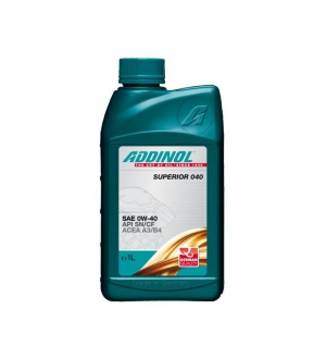 Моторное масло для легковых автомобилей Superior 040